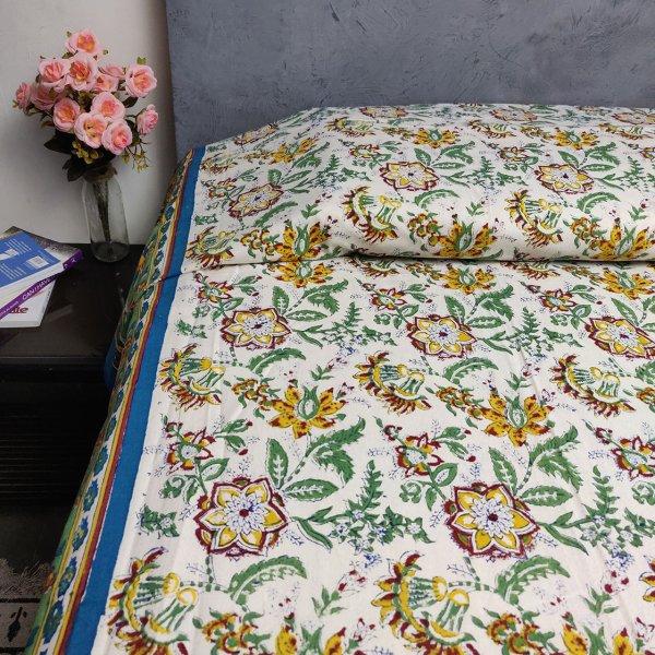 Double Bedsheet Handblock BHD88