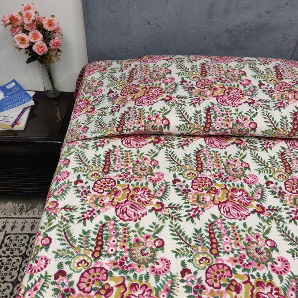 Double Bedsheet Handblock BHD91