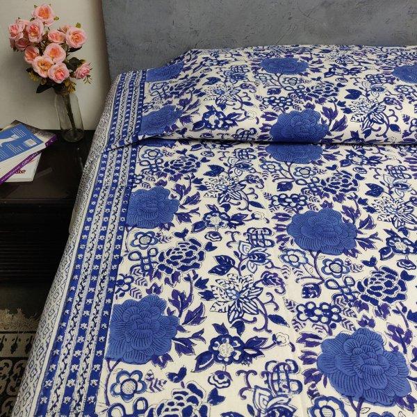 Double Bedsheet Handblock BHD95