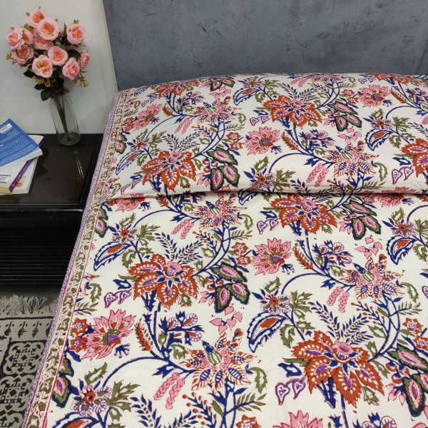 Double Bedsheet Handblock BHD97