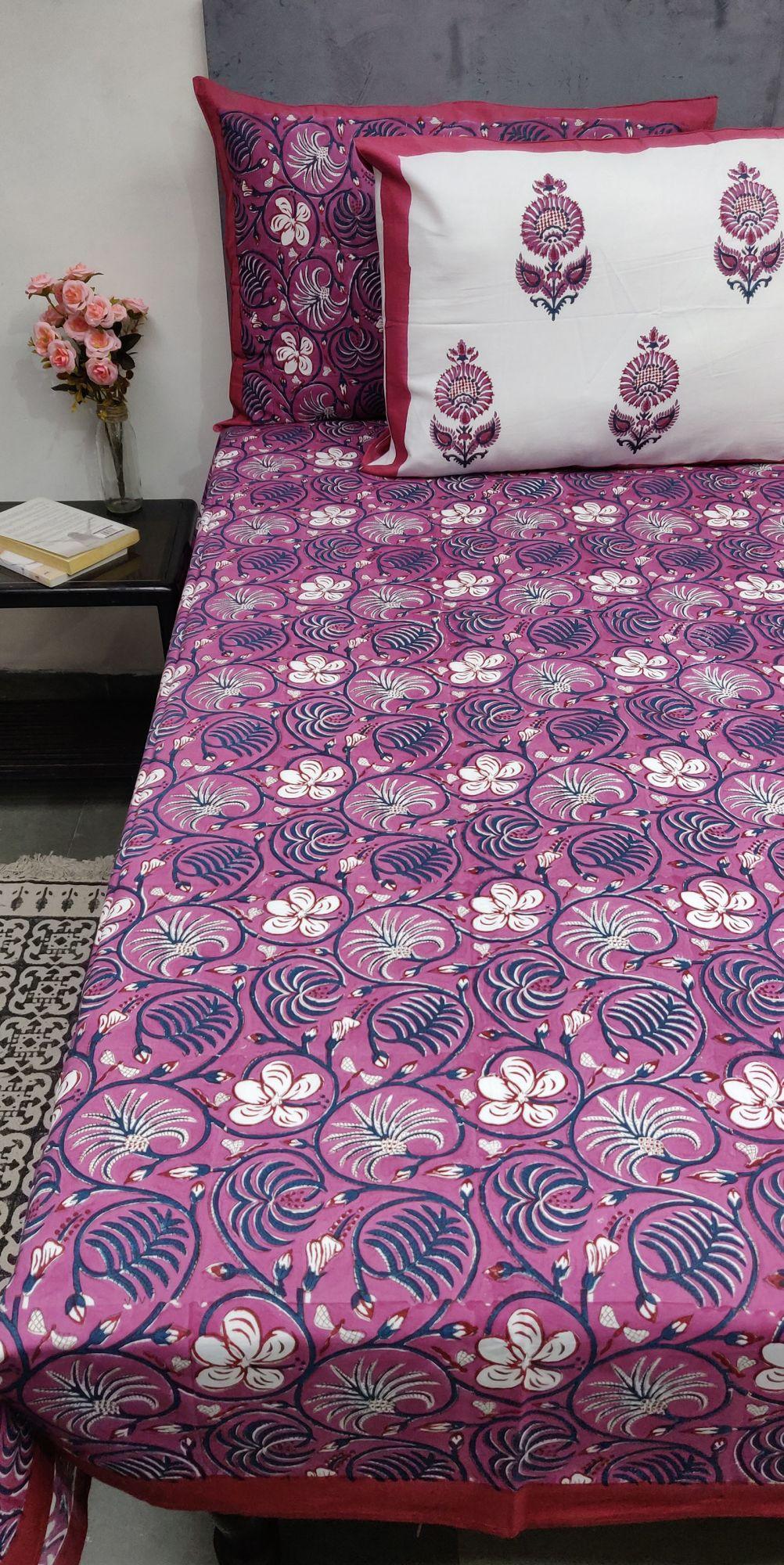 Layka Floral Double Bedsheet