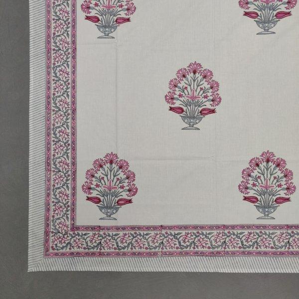 Floral Handblock Double Bedsheet TCBHD89