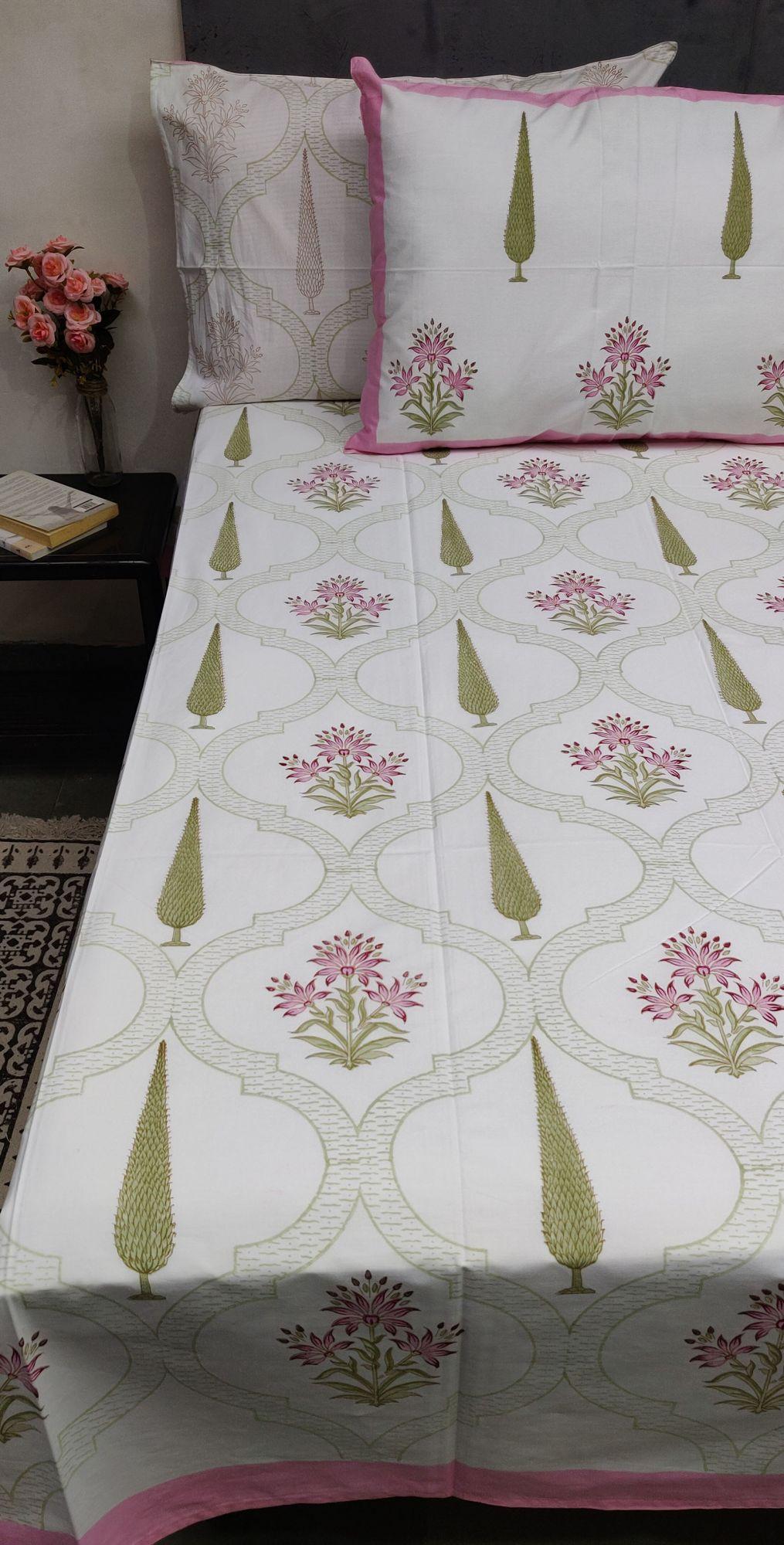 Floral Boota King Bedsheet BHK14
