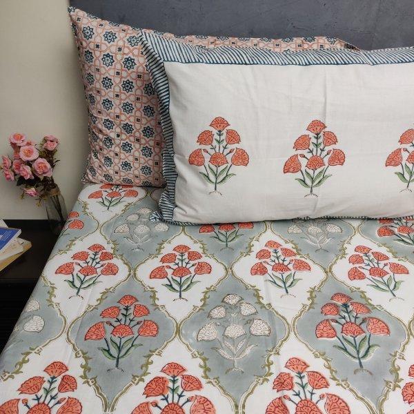 Floral Boota King Bedsheet BHK37
