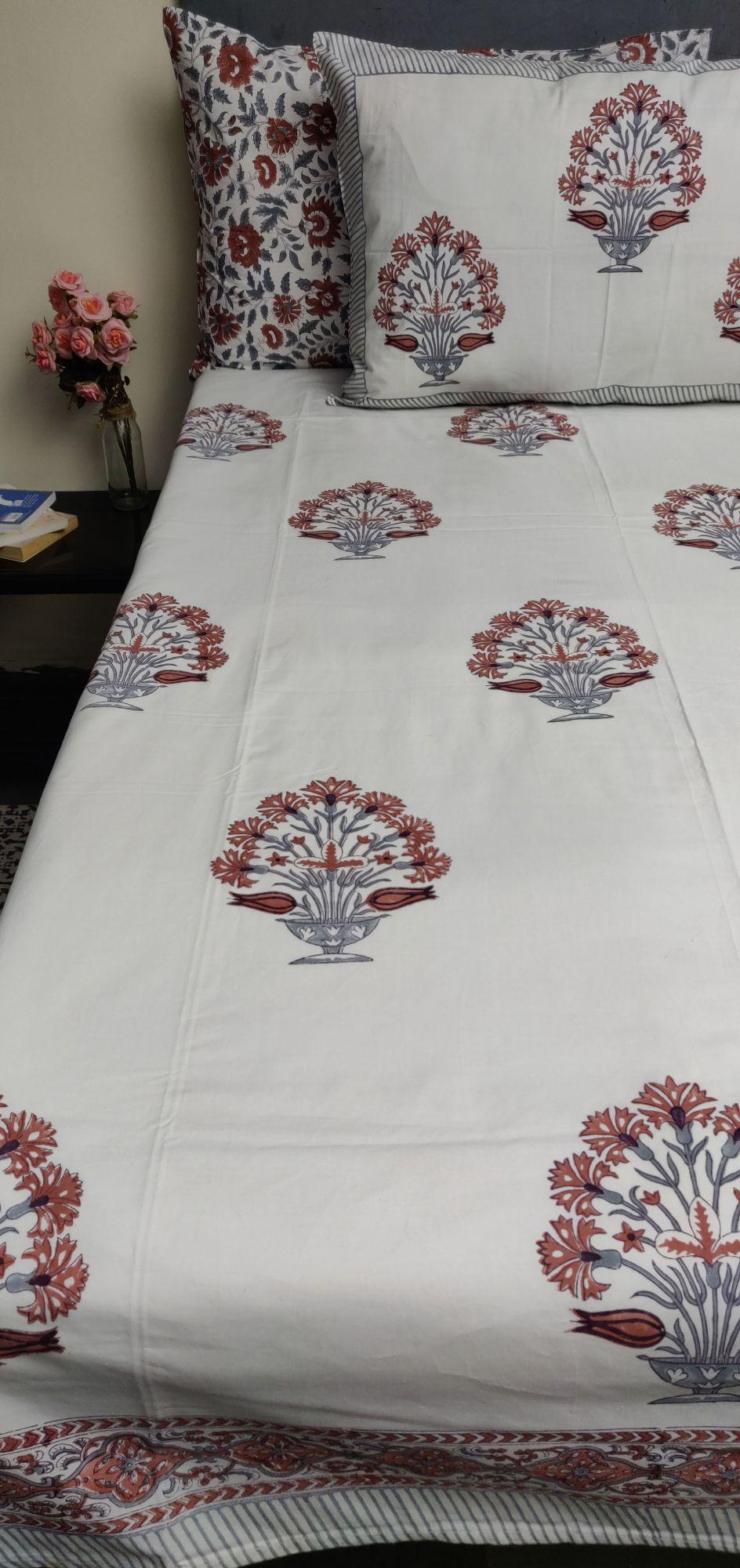 Floral Boota King Bedsheet BHK39