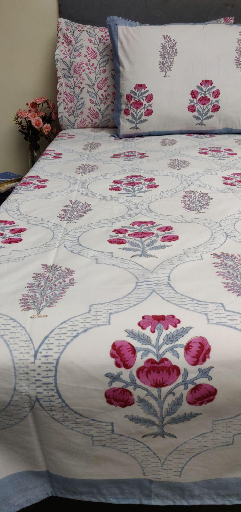 Floral Boota King Bedsheet BHK45