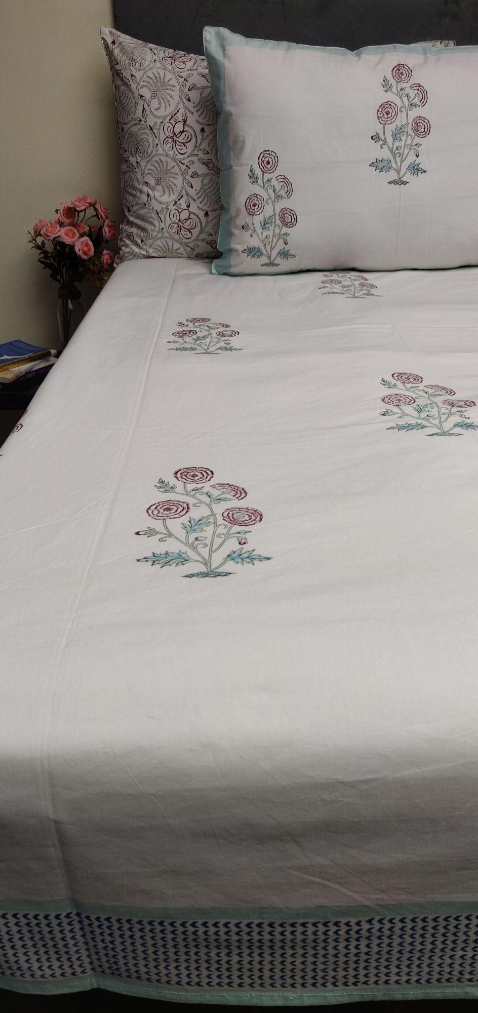 Floral Boota King Bedsheet BHK52
