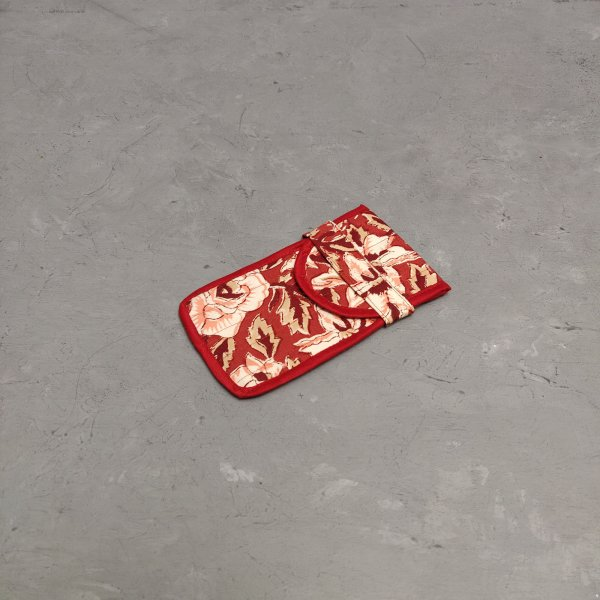 Handblock Printed Spec or Mobile Pouch AMP16