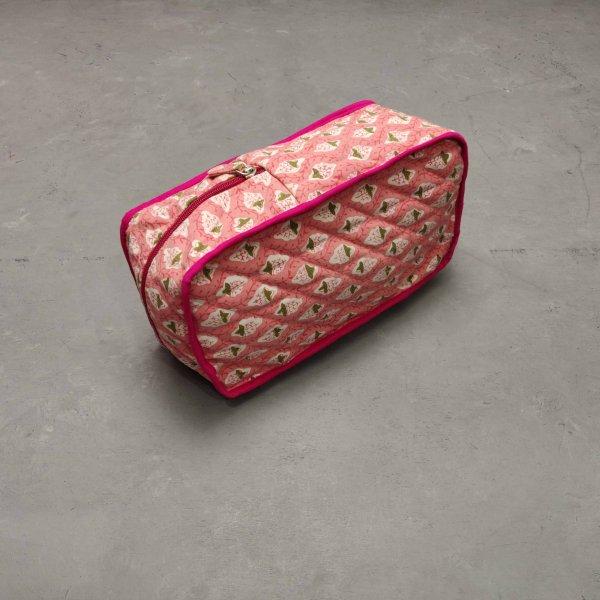 Pink Floral Shoe Bag