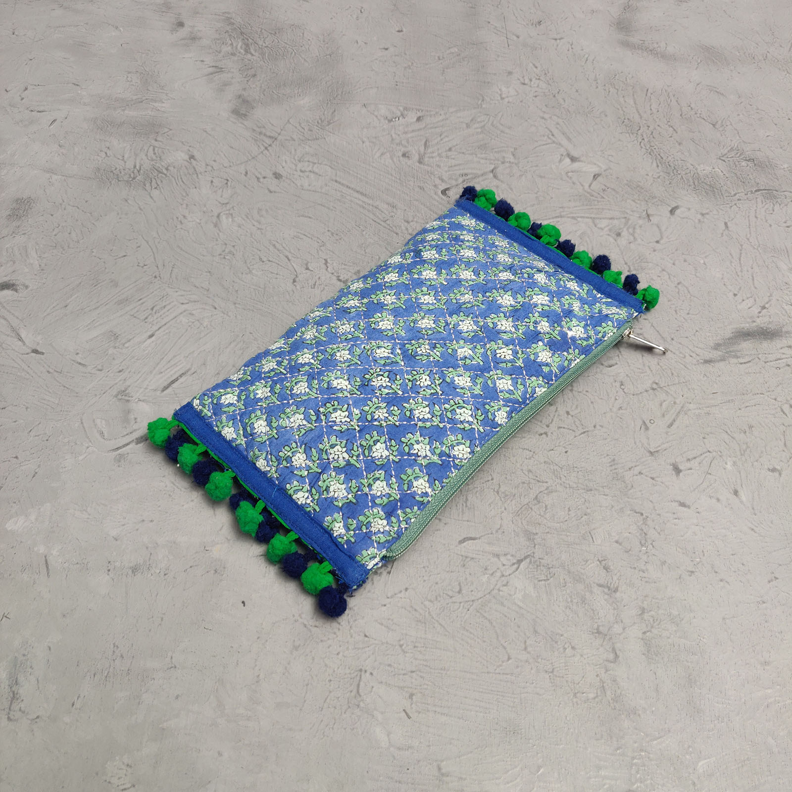 Handblock Printed Braided Wallet AW18