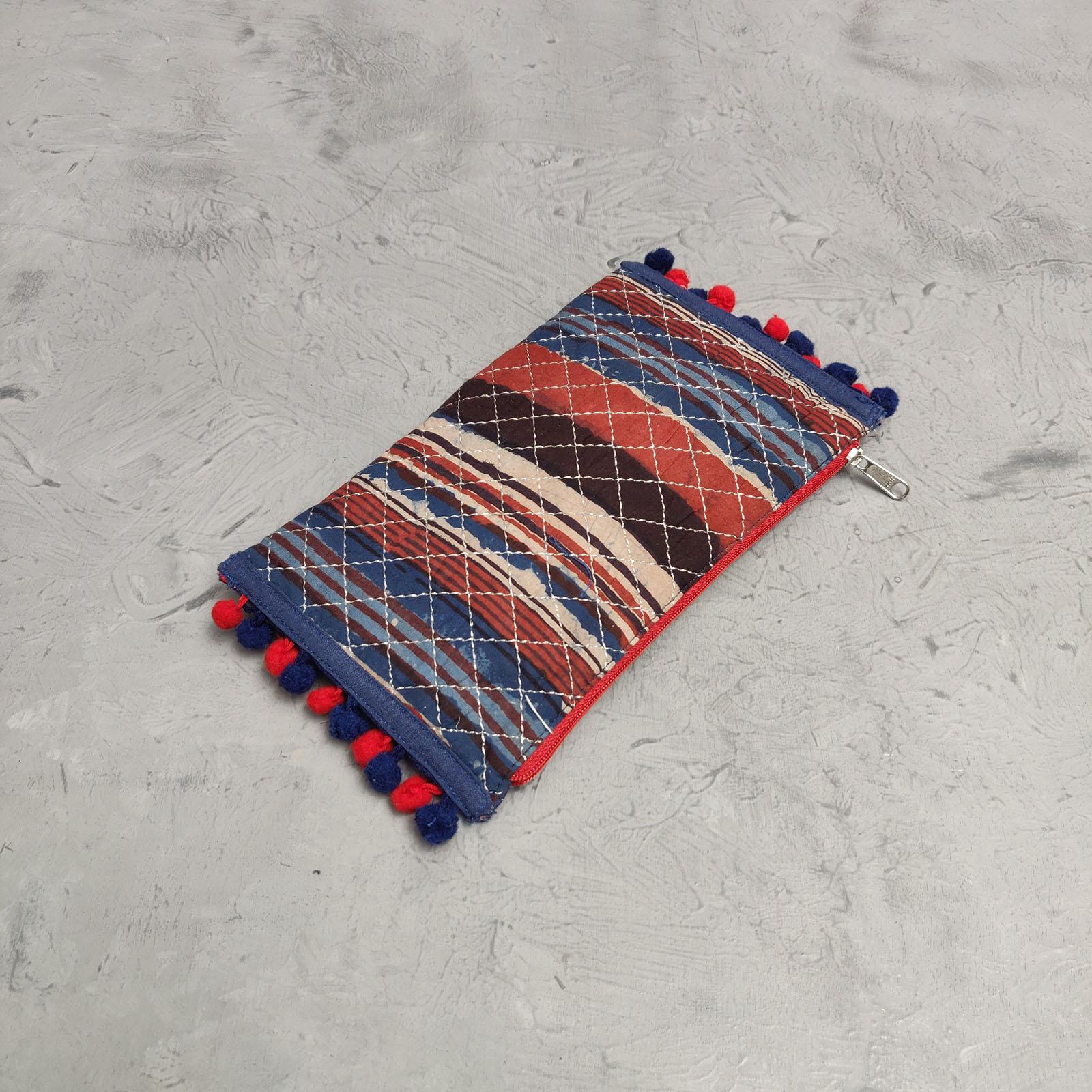 Handblock Printed Braided Wallet AW21
