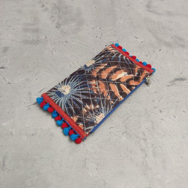 Handblock Printed Braided Wallet AW30