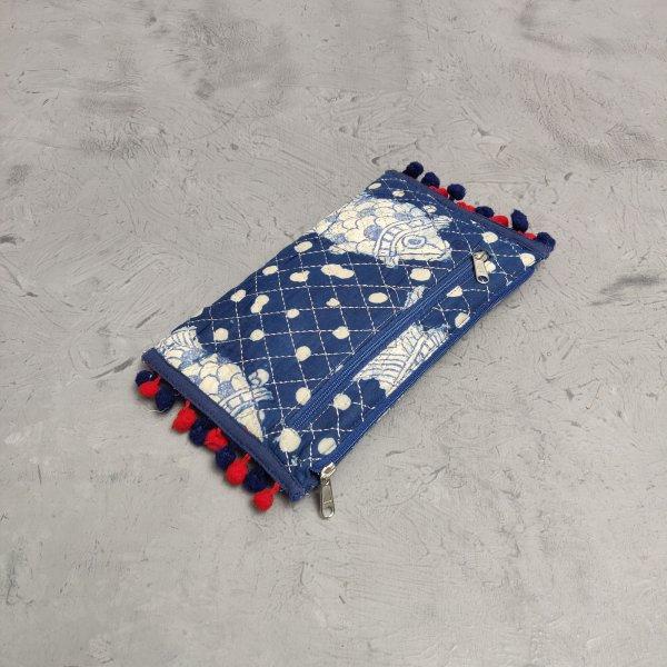 Handblock Printed Braided Wallet AW40