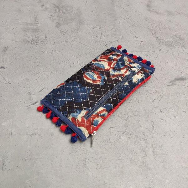 Handblock Printed Braided Wallet AW41