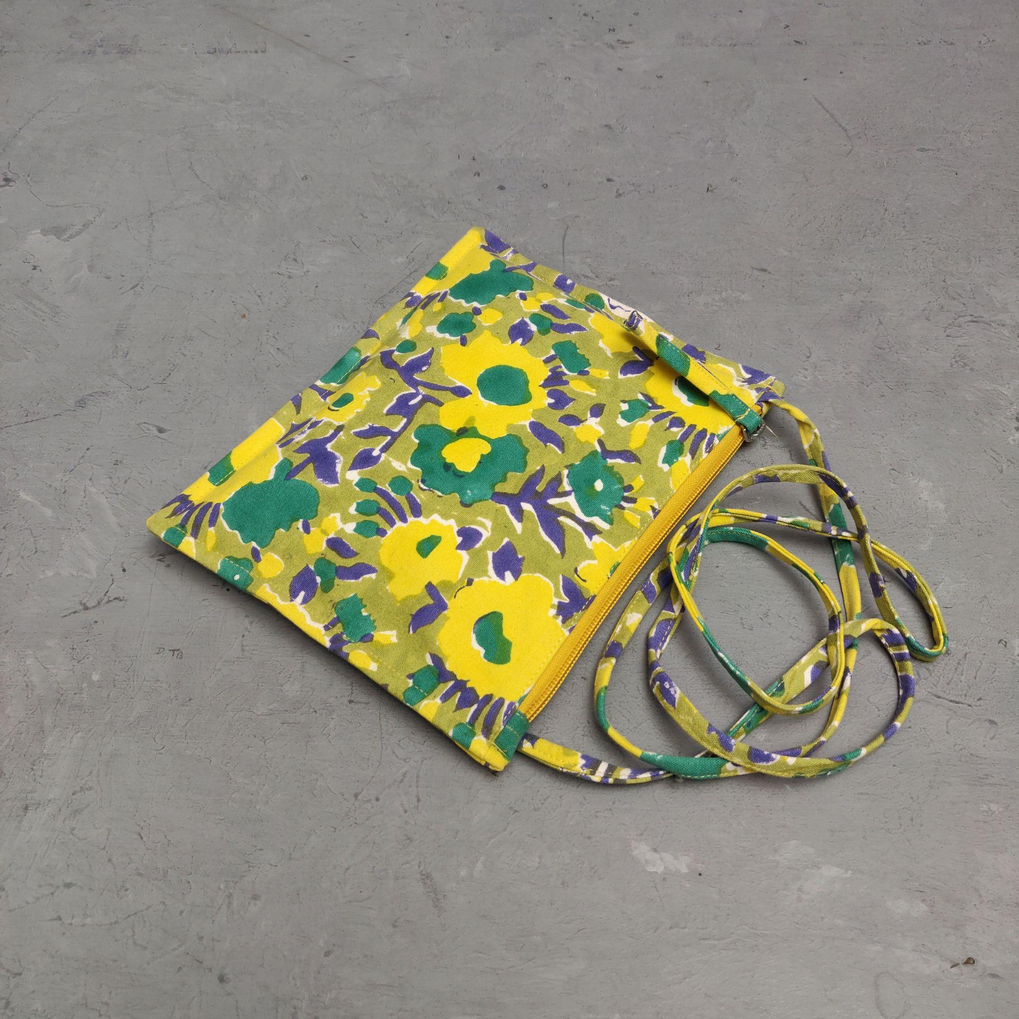 Floral Canvas Sling Bag SLB11