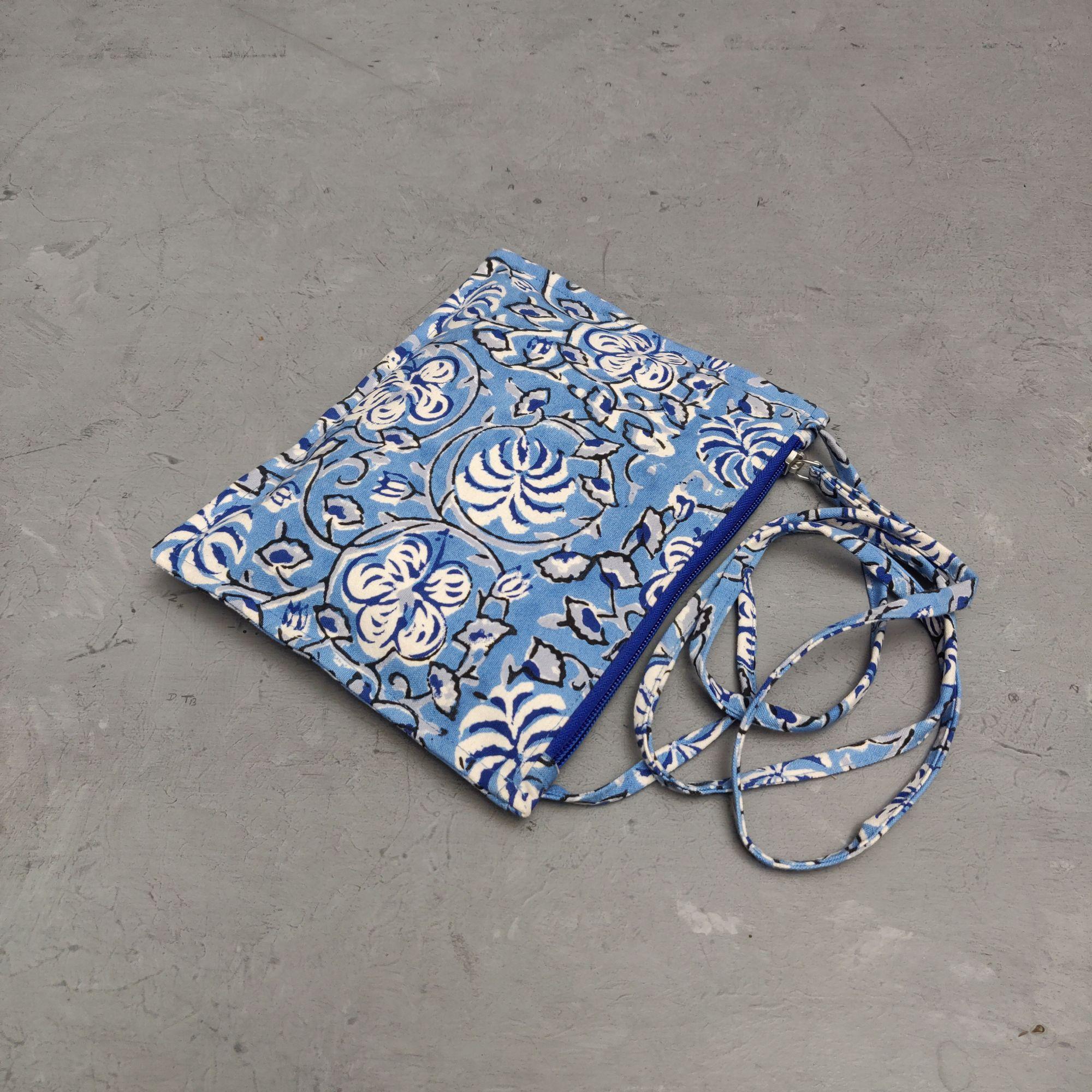 Floral Canvas Sling Bag SLB12