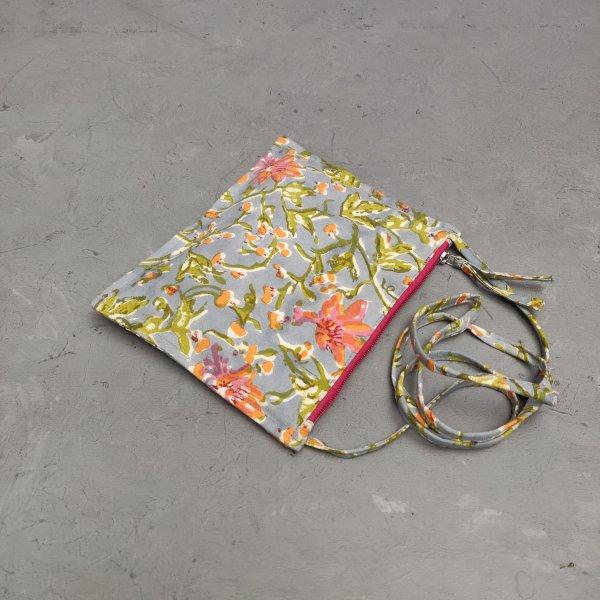 Floral Canvas Sling Bag