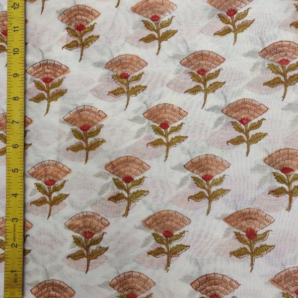 Chanderi Handblock Fabric JMF163
