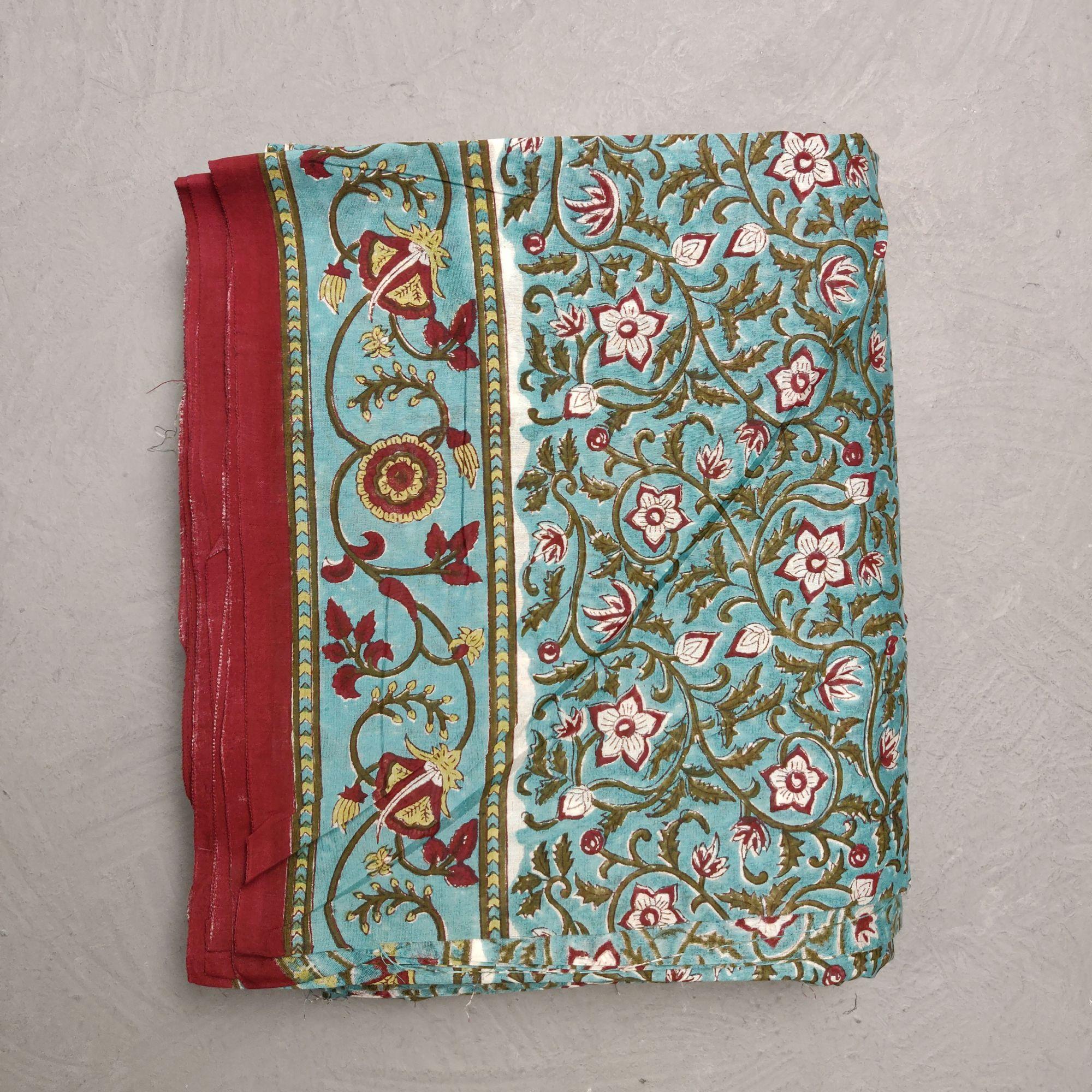 Chanderi Handblock Fabric JMF165