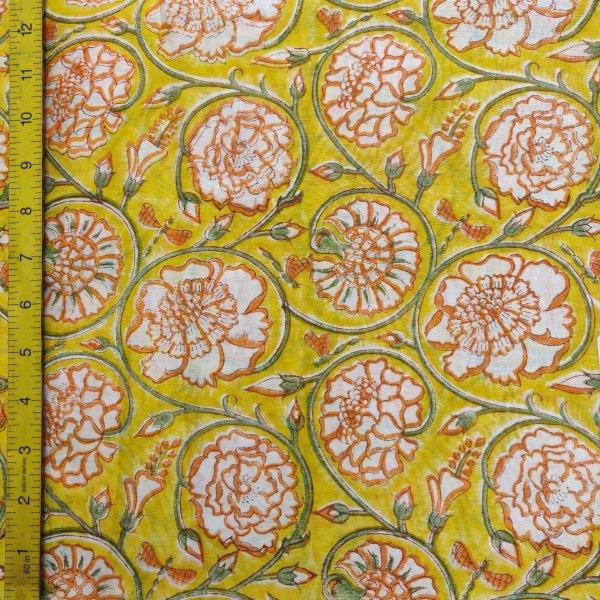 Chanderi Handblock Fabric JMF167