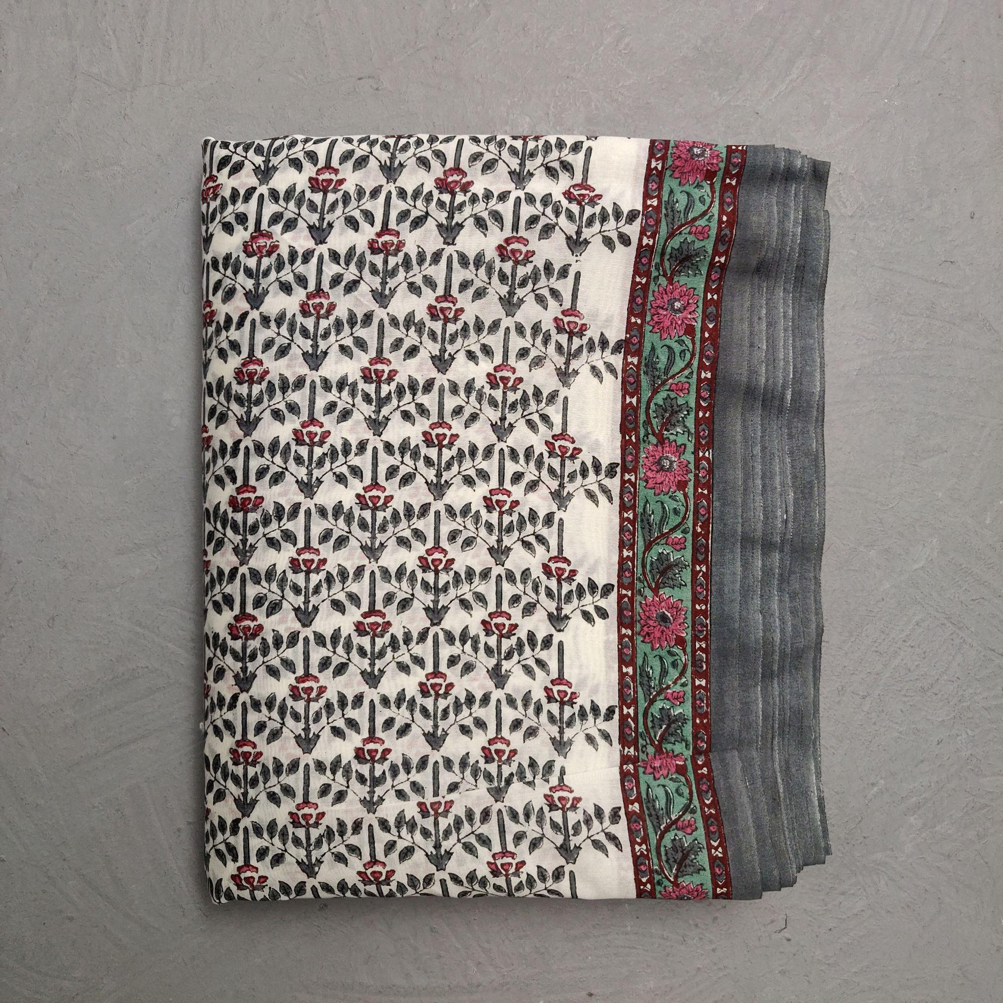 Chanderi Handblock Fabric JMF168