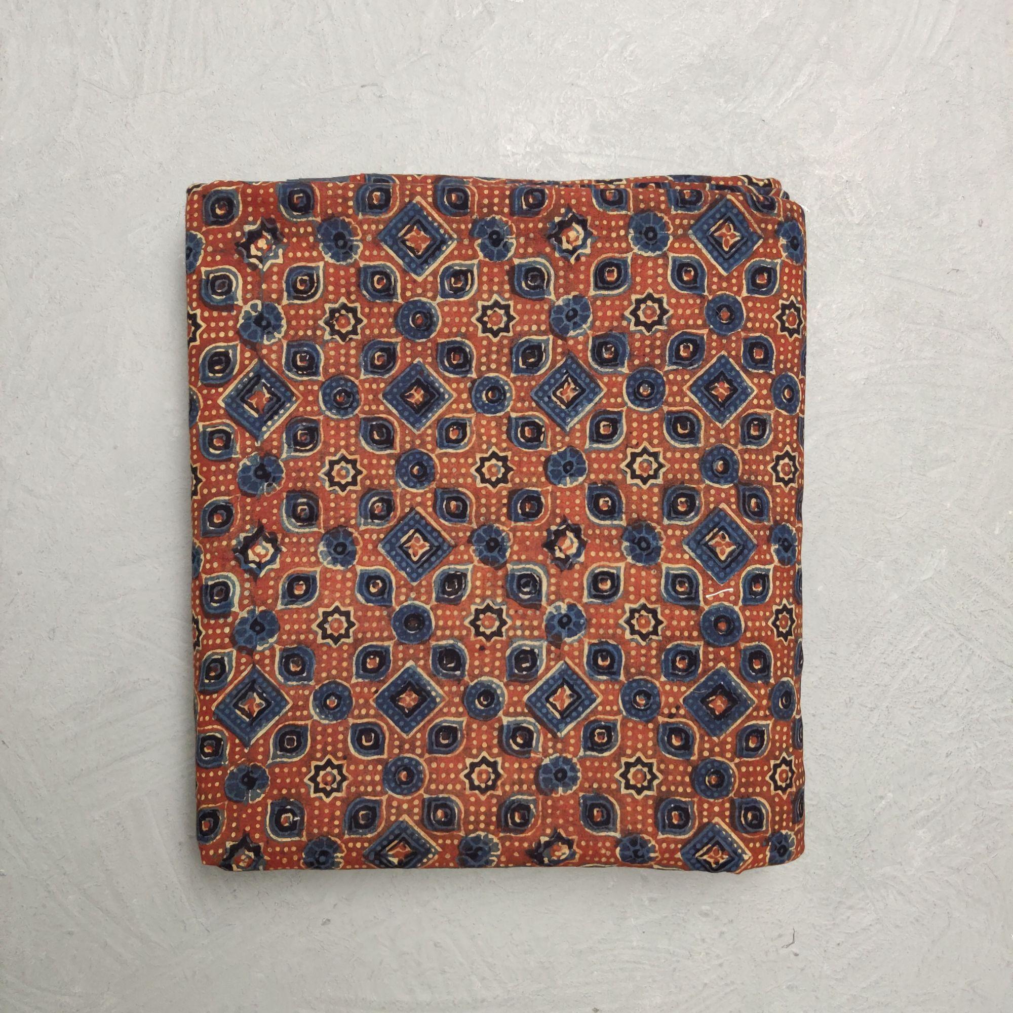 Ajrakh Cotton Handblock Fabric JMF188