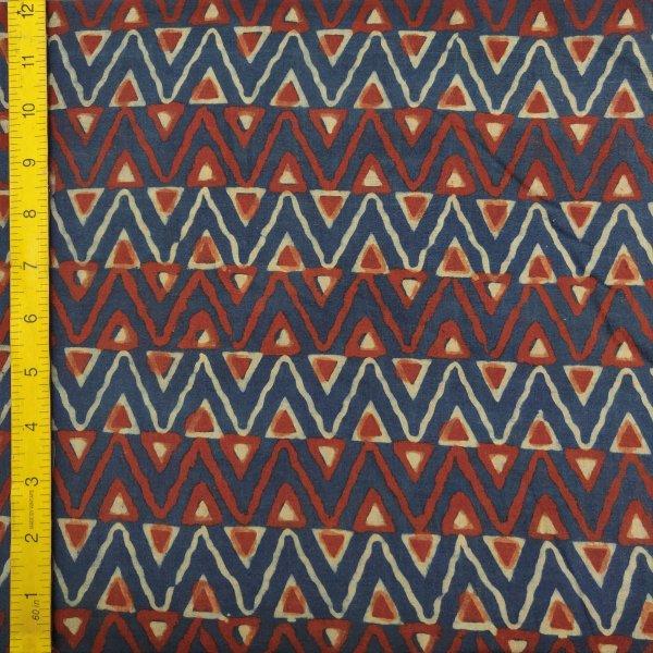 Ajrakh Cotton Handblock Fabric JMF189