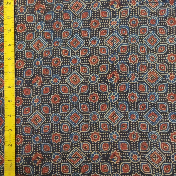 Ajrakh Cotton Handblock Fabric JMF195