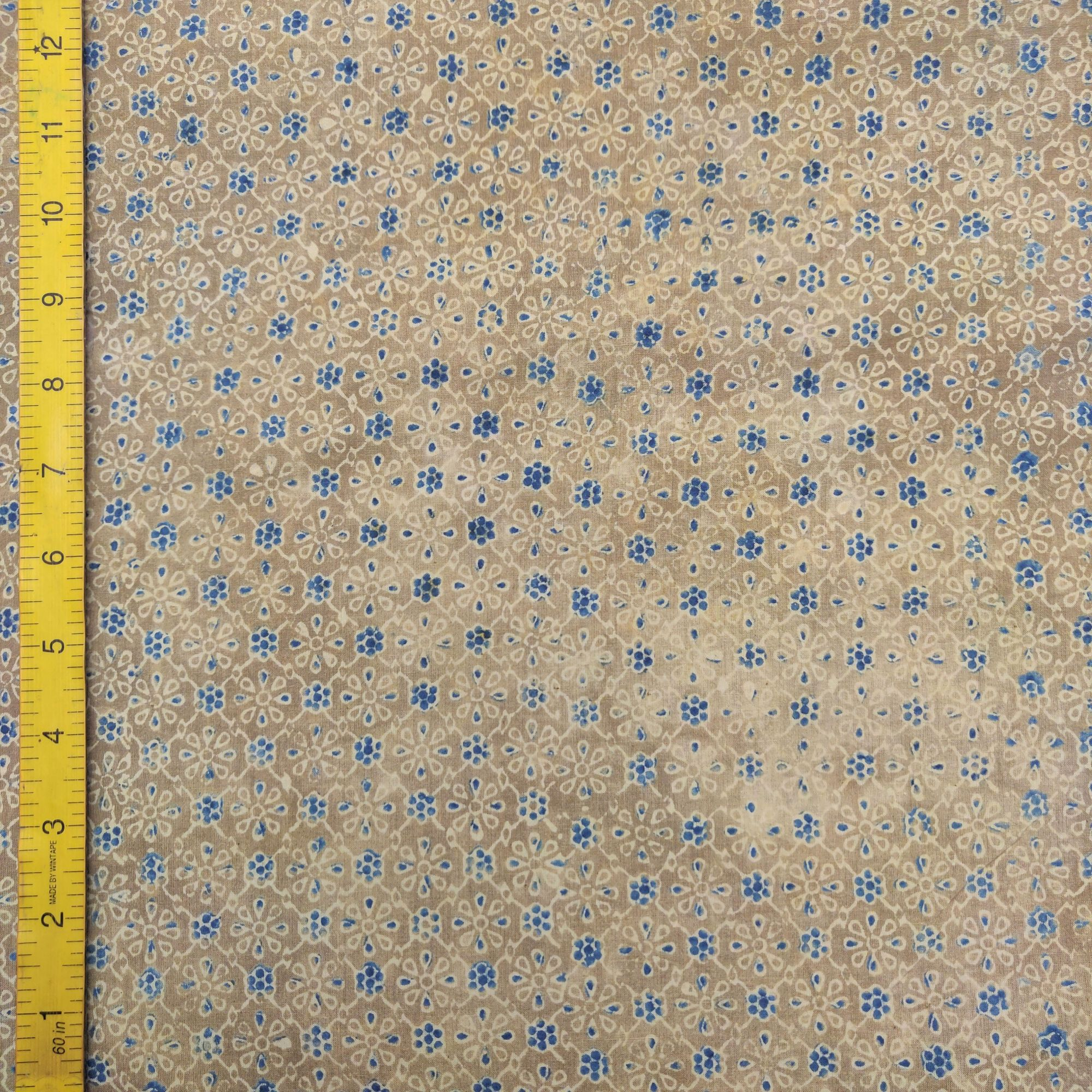 Ajrakh Cotton Handblock Fabric JMF196