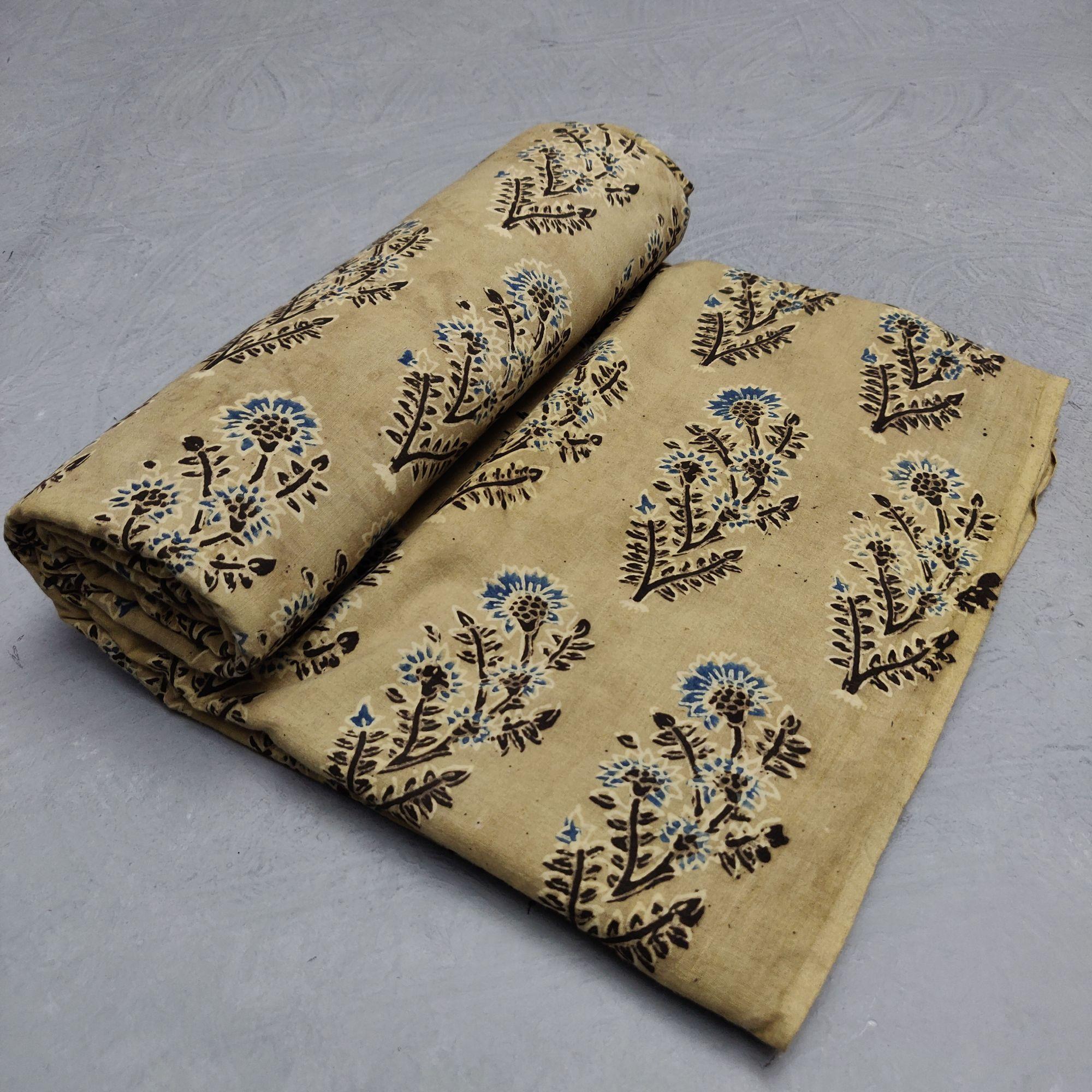 Ajrakh Cotton Handblock Fabric JMF198