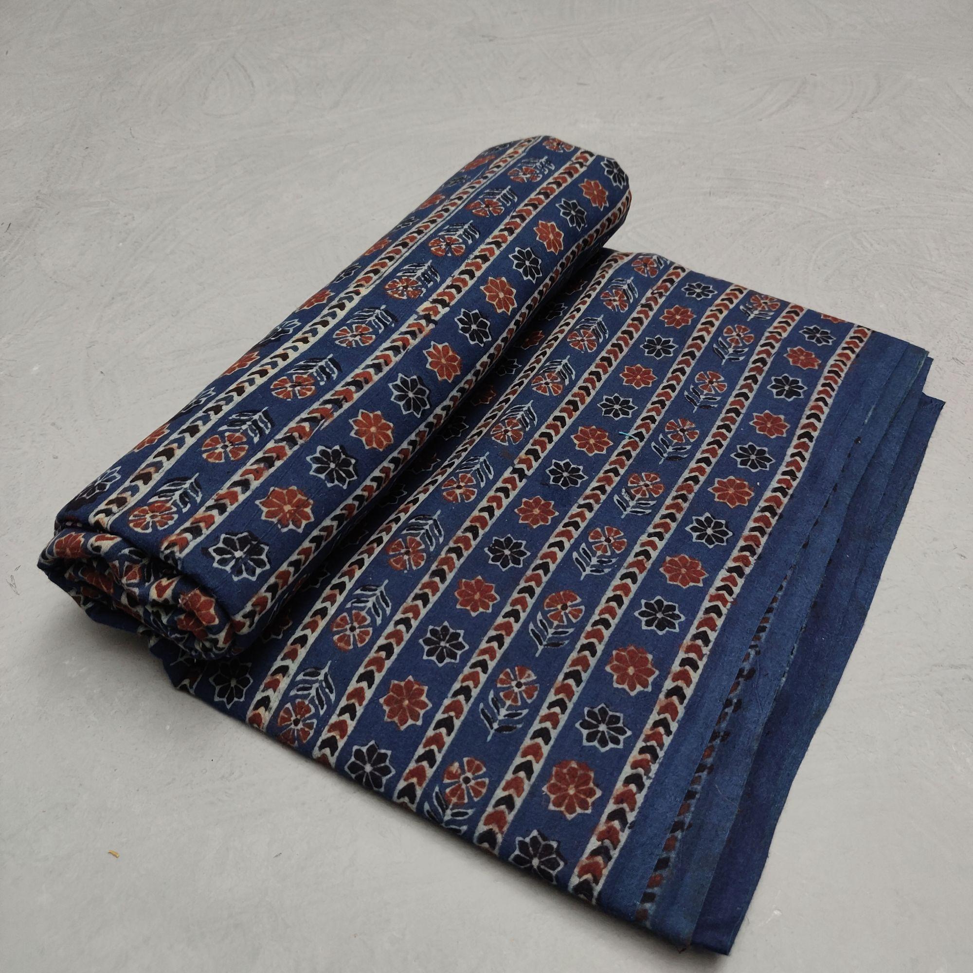 Ajrakh Cotton Handblock Fabric JMF203