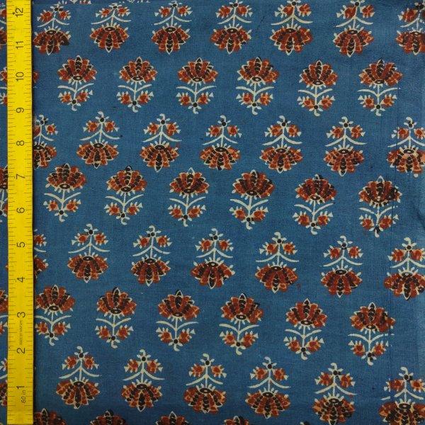 Ajrakh Cotton Handblock Fabric JMF205