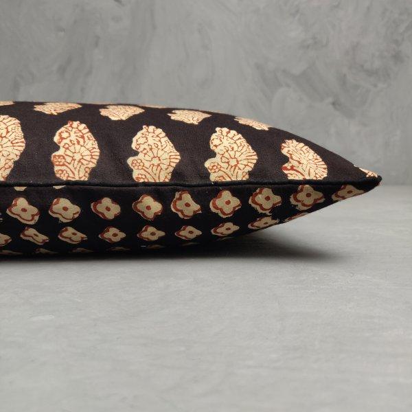 Reversible Handblock Printed Cushion Cover 12X12 C11