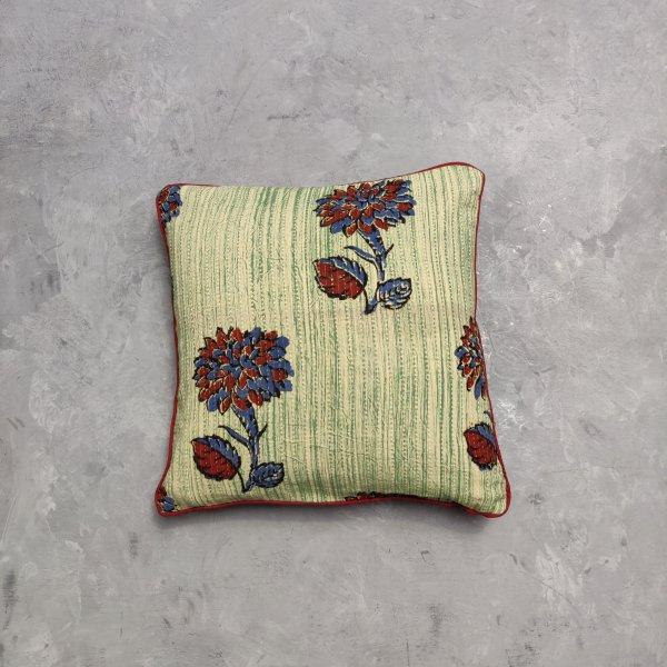 Reversible Handblock Printed Cushion Cover 12X12 C15