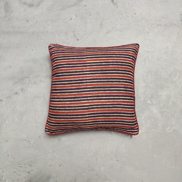 Reversible Ajrakh Handblock Printed Cushion Cover 12X12 C19