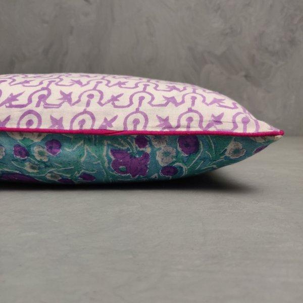 Reversible Handblock Printed Cushion Cover 12X12 C20