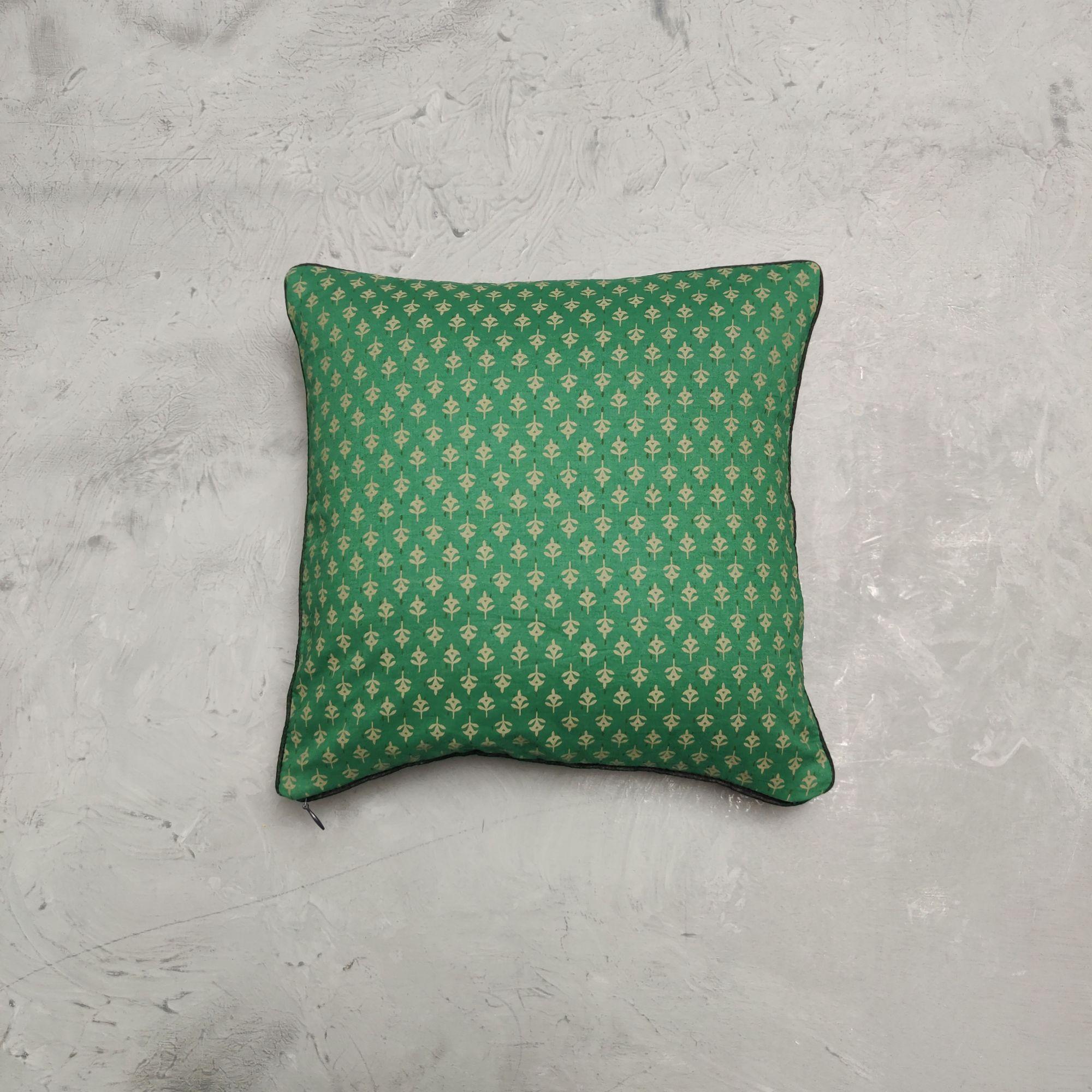 Reversible Handblock Printed Cushion Cover 12X12 C25