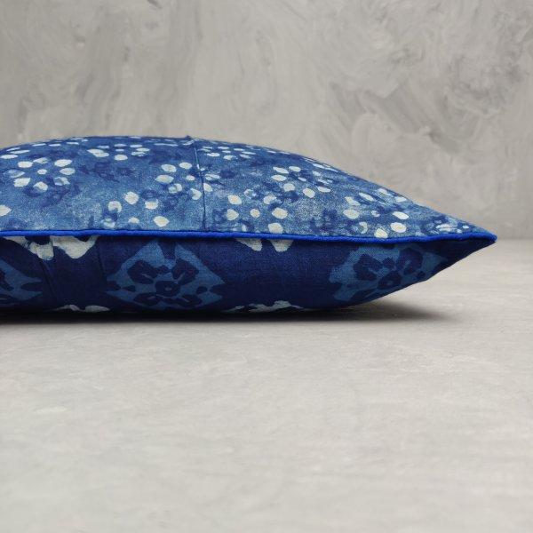 Reversible Handblock Printed Cushion Cover 12X12 C26