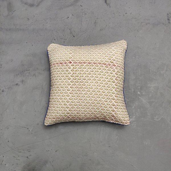 Reversible Handblock Printed Cushion Cover 12X12 C29