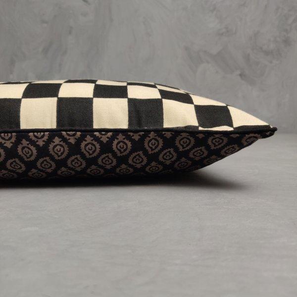Reversible Handblock Printed Cushion Cover 12X12 C30