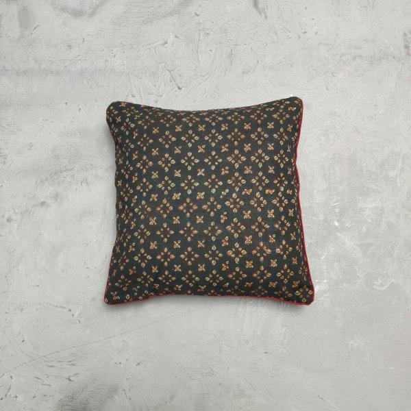 Reversible Handblock Printed Cushion Cover 12X12 C34