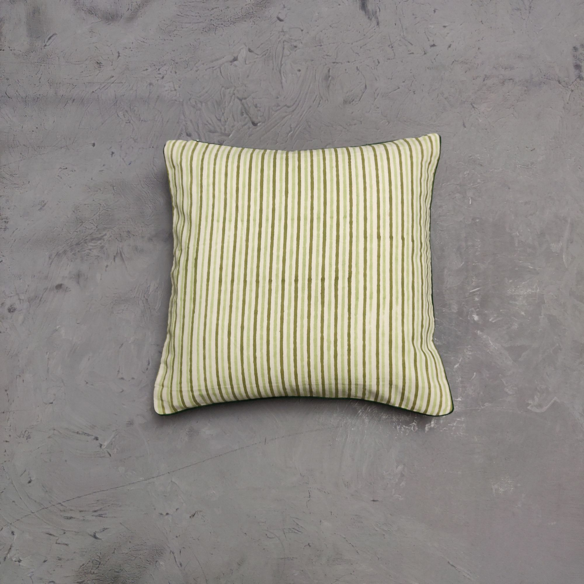 Reversible Handblock Printed Cushion Cover 12X12 C37