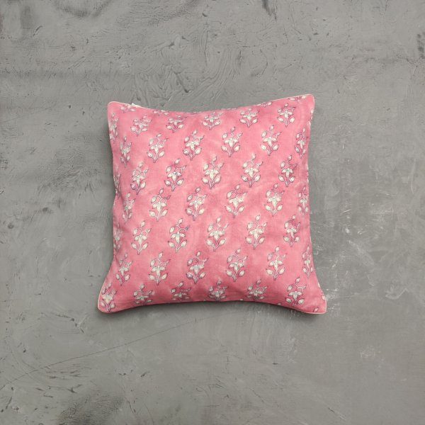 Reversible Handblock Printed Cushion Cover 12X12 C39