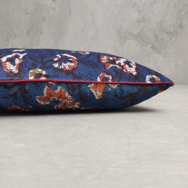 Reversible Handblock Printed Cushion Cover 12X12 C4
