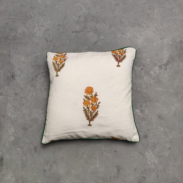 Reversible Handblock Printed Cushion Cover 12X12 C5