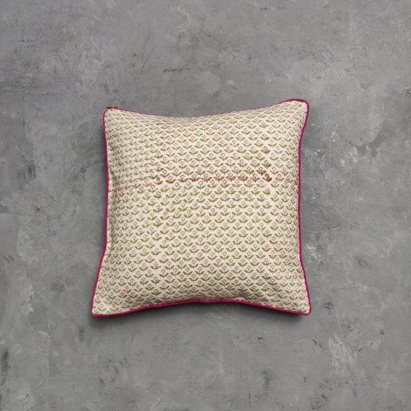 Reversible Handblock Printed Cushion Cover 12X12 C8