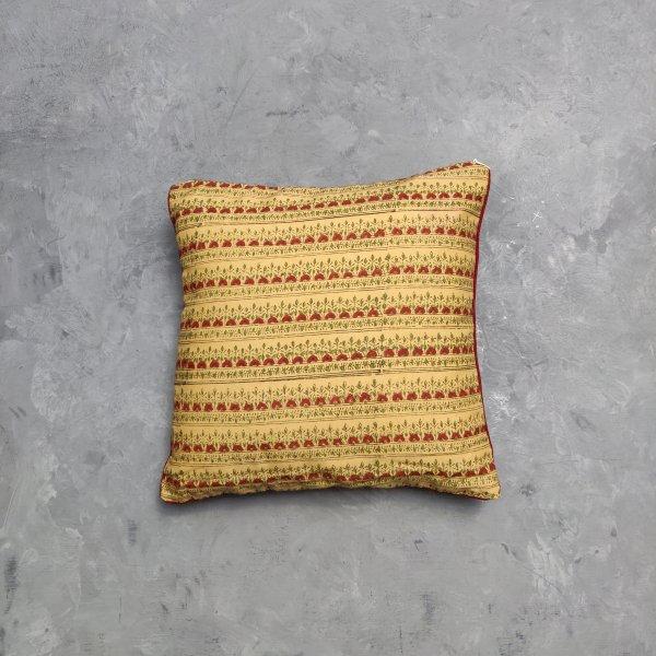 Reversible Handblock Printed Cushion Cover 12X12 C9