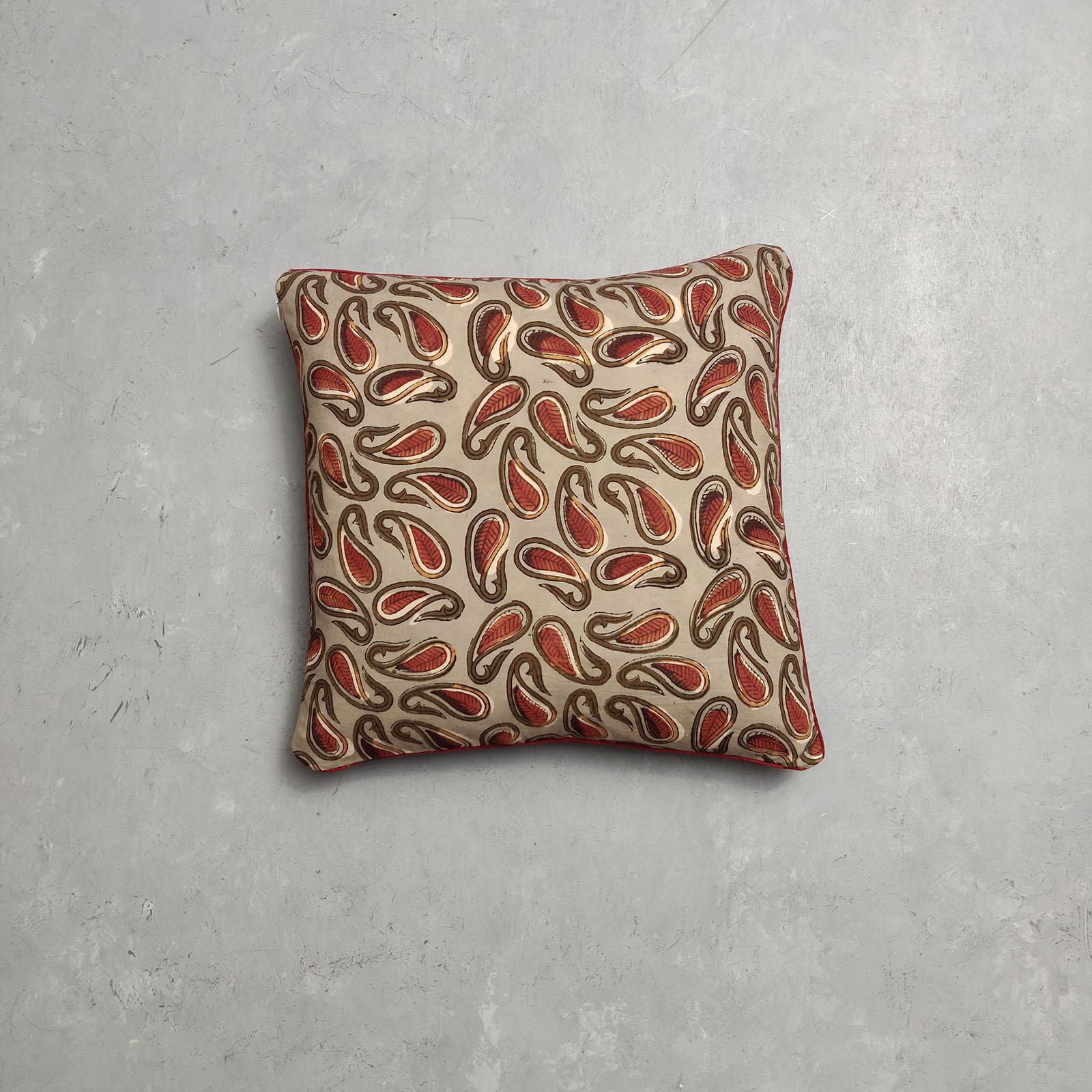 Reversible Handblock Printed Cushion Cover CC109