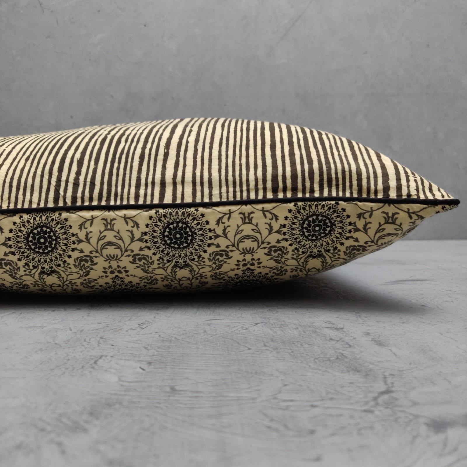 Reversible Handblock Printed Cushion Cover CC112