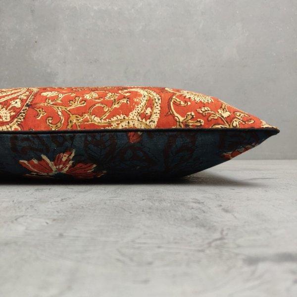 Reversible Dabu Bagru Handblock Printed Cushion Cover CC118